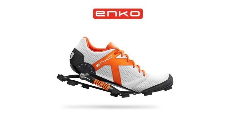 Enko running shoes absorbs shocks, boosts strides