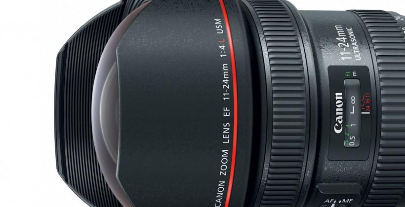 Canon EF 11-24mm f/4L USM ultra wide-angle zoom lens official