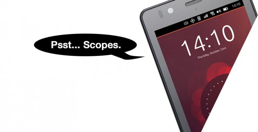 Ubuntu Phone release: Apps out, Scopes in