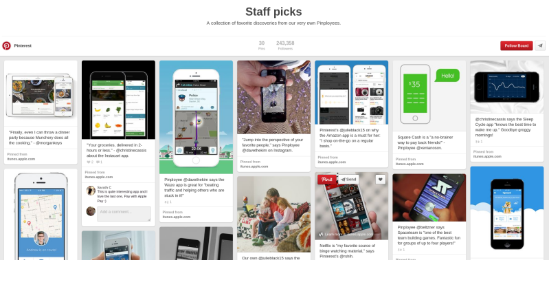 Pinterest now has pins for iPad, iPhone apps