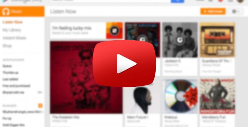 Google Music may soon play YouTube videos natively