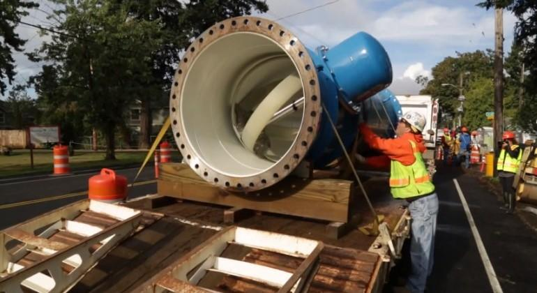 Portland adds Hydroelectric Water Pipes