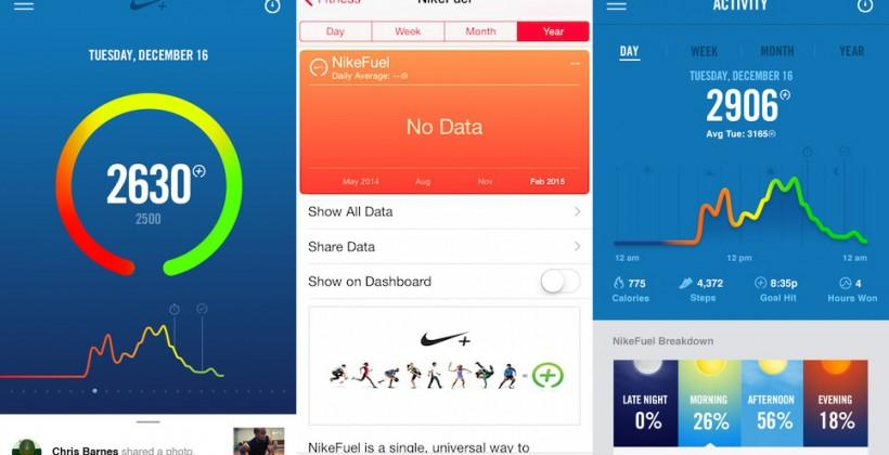 Nike+ Fuel app now connects with iOS Health, band no longer needed