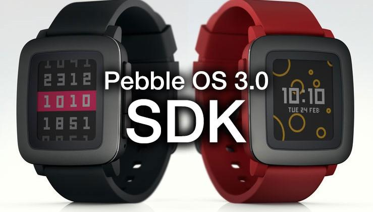 Pebble Time SDK (3.0) released today
