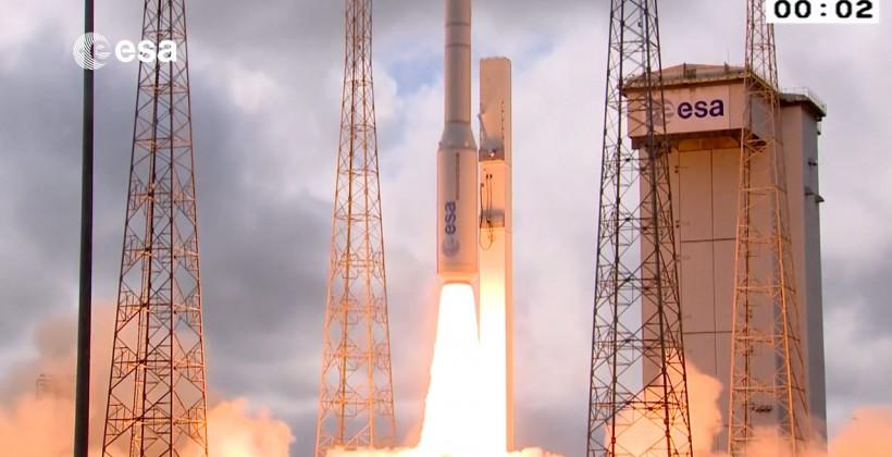 Watch the ESA's car-sized shuttle take off