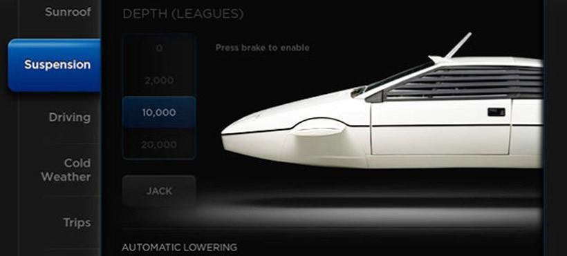 Tesla put James Bond Lotus submarine Easter egg in Model S software