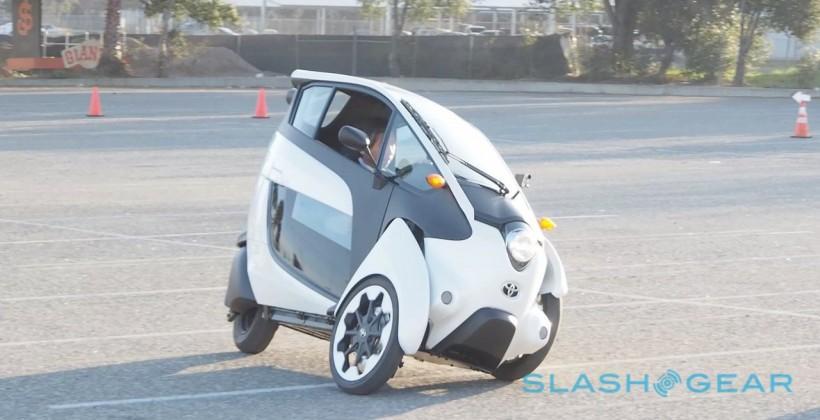 Driving Toyota i-ROAD: Crazy tilt meets genius strategy