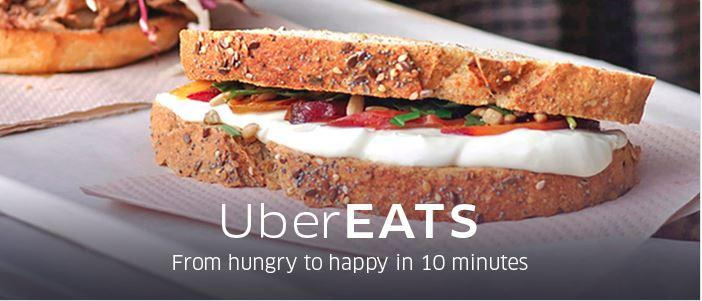 UberEATS delivers users lunch in Barcelona