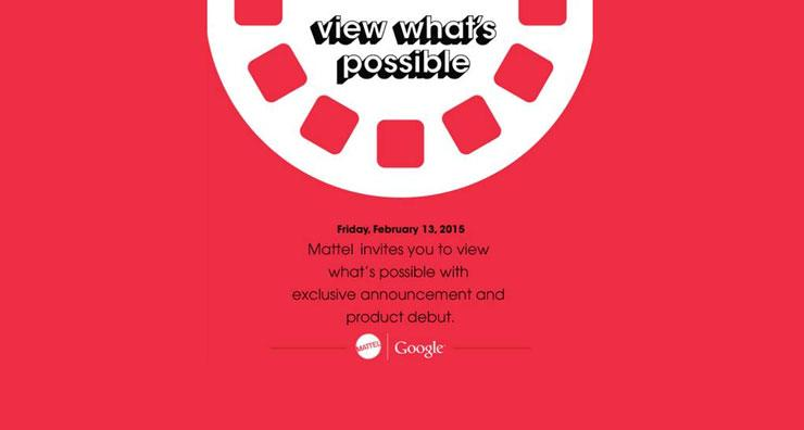Mattel's Google View-Master project set for ToyFair 2015