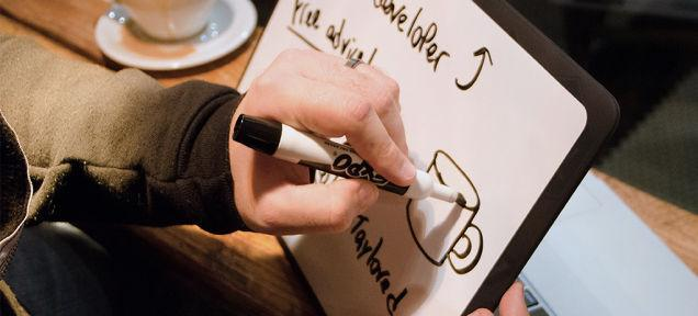 Whiteboard sticker turns your laptop lid into a scratchpad