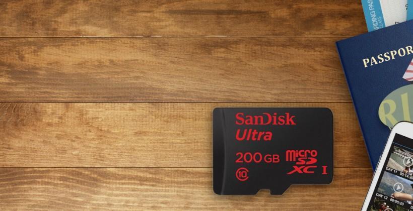 SanDisk debuts new 200GB microSDXC card