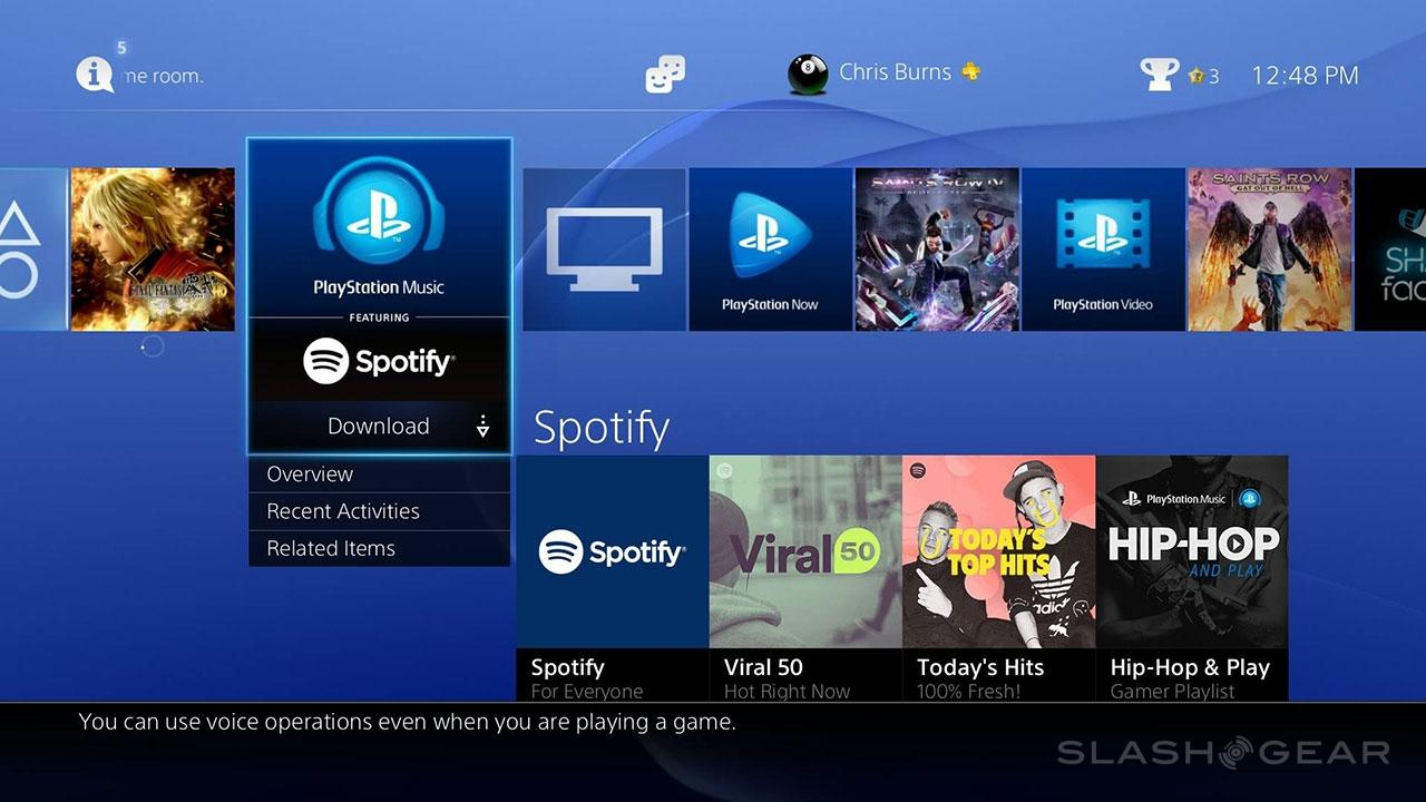 PlayStation's Spotify team up: 3rd party app dominance