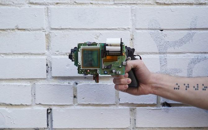 Artist hacks together Game Boy and camera into 8-bit printer