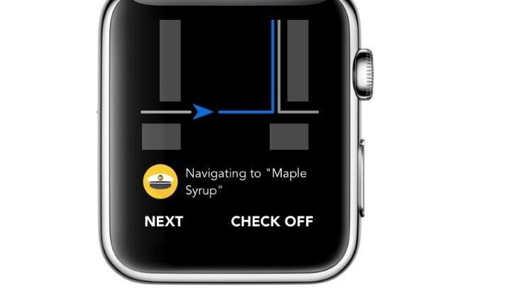 Captain turns your grocery list into navigation directions on Apple Watch