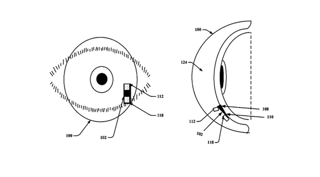 Google awarded patent for their smart contact lens