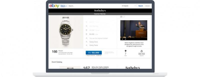 eBay and Sotheby's partner, will live stream auctions
