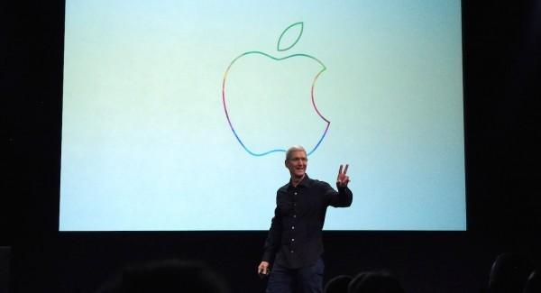 Apple CEO Tim Cook rainbow logo