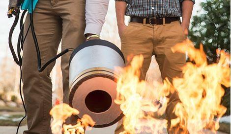 Students create bass-blasting extinguisher to put out fires