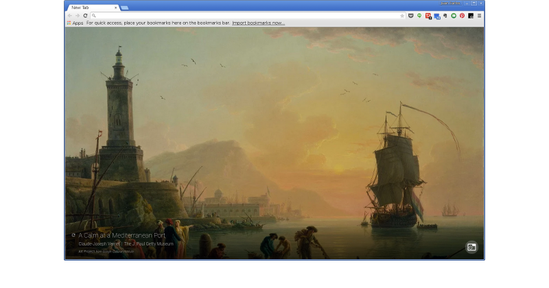 Google turns every new Chrome tab into an Art Project