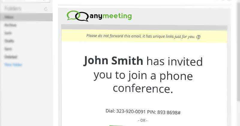 AnyMeeting's email scheme makes conference call scheduling simple