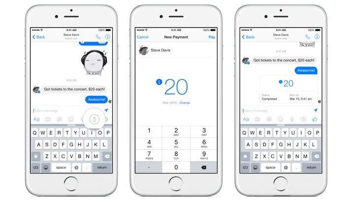 Facebook Messenger adds money sending feature