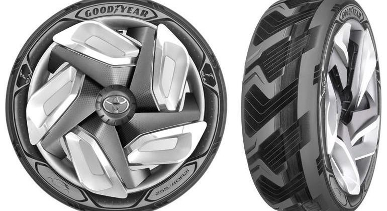 Goodyear concept tire helps power electric cars