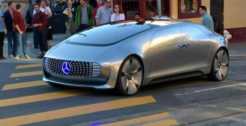 Autonomous Mercedes car spotted cruising San Francisco streets