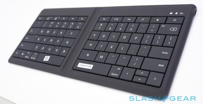 Microsoft bends their OS-agnostic mobile keyboard in half: Hands-on