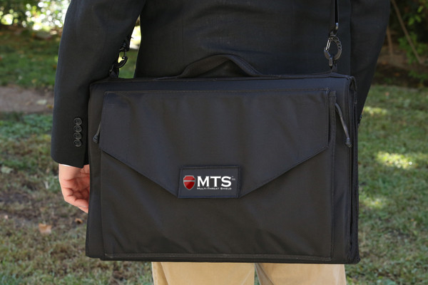 MTS briefcase doubles as weapon-proof personal shield