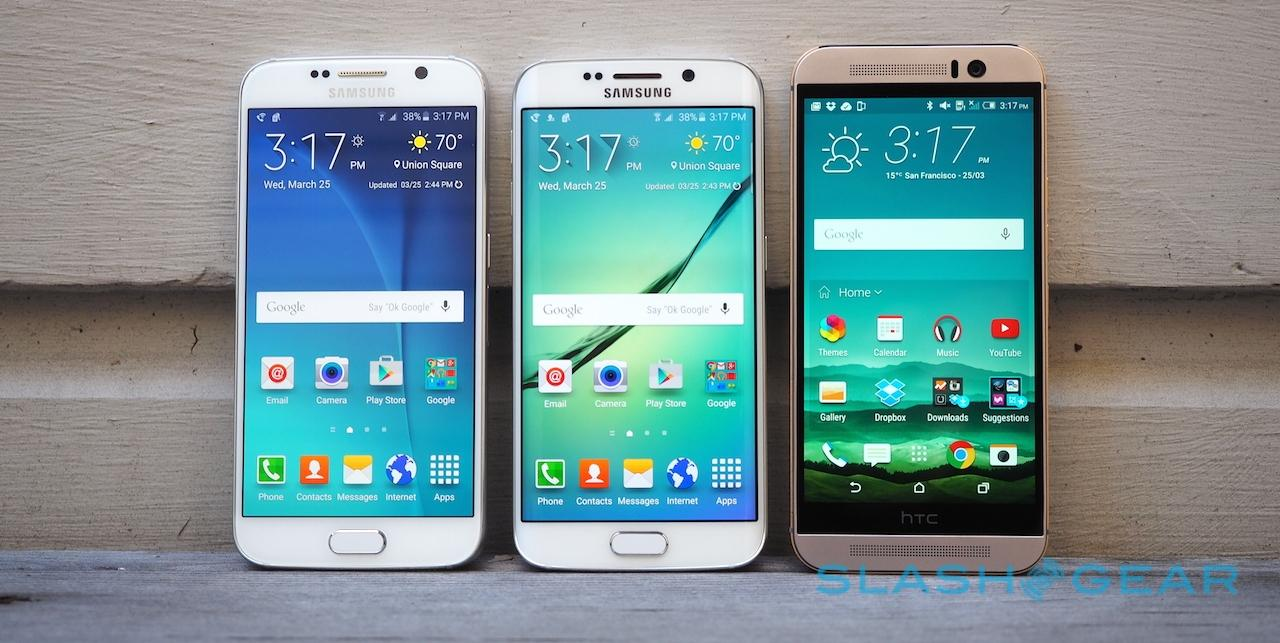 Samsung Galaxy S6, Galaxy S6 edge, and HTC One M9