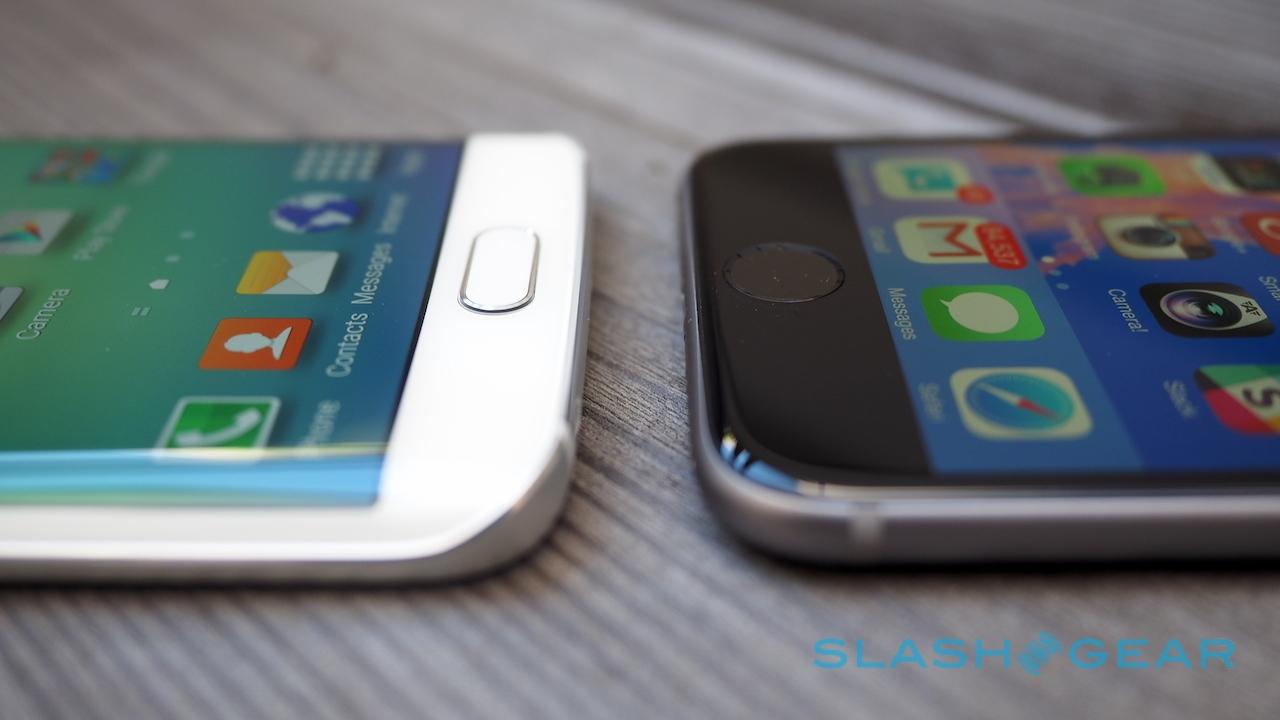 Samsung Galaxy S6 edge fingerprint vs iPhone 6 Touch ID
