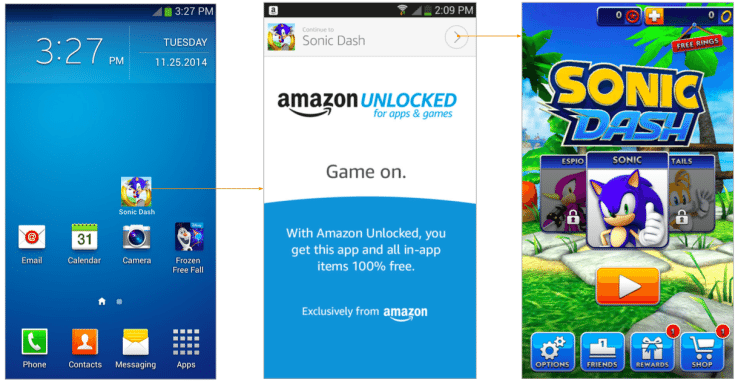 Amazon Unlocked service tipped, will offer paid apps for free
