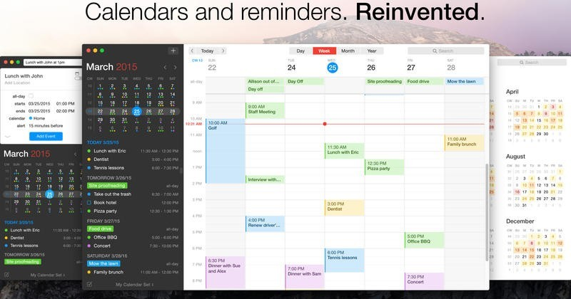 Fantastical 2 arrives on OS X with new look, more features
