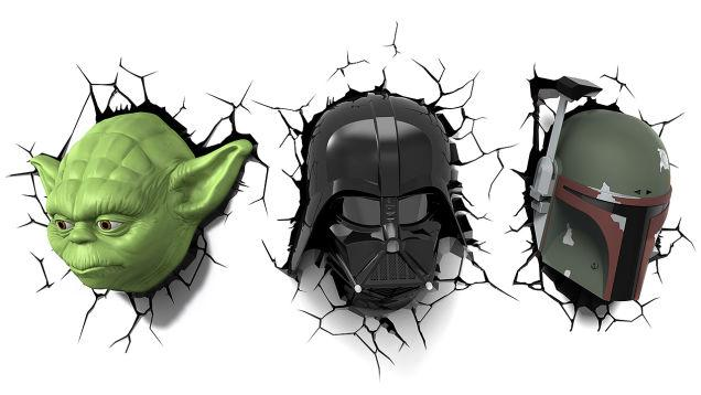 Star Wars wall-mounted heads glow, are up for pre-order