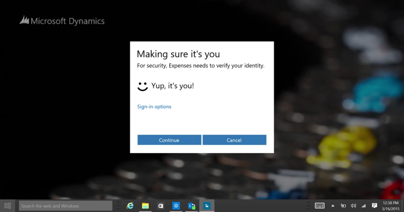 Windows Hello lets your face, finger do the talking