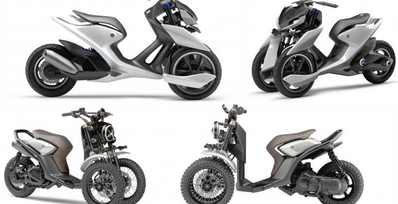 Yamaha shows off 3-wheel prototypes of the future