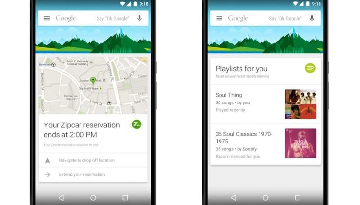 Google is adding new Now Cards, pairing up with 70 new apps