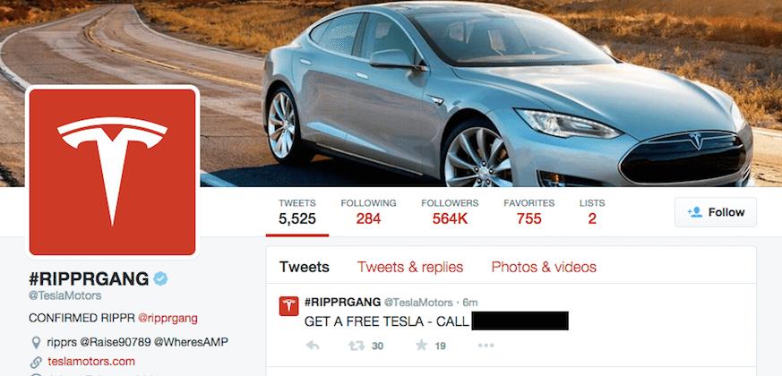 Tesla website, Elon Musk's Twitter defaced by hackers