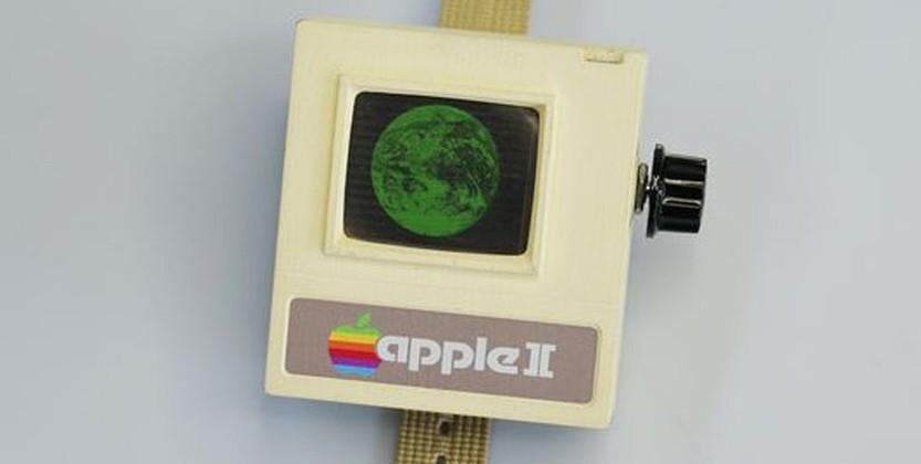 This Apple II Watch is a 1970s-inspired wearable