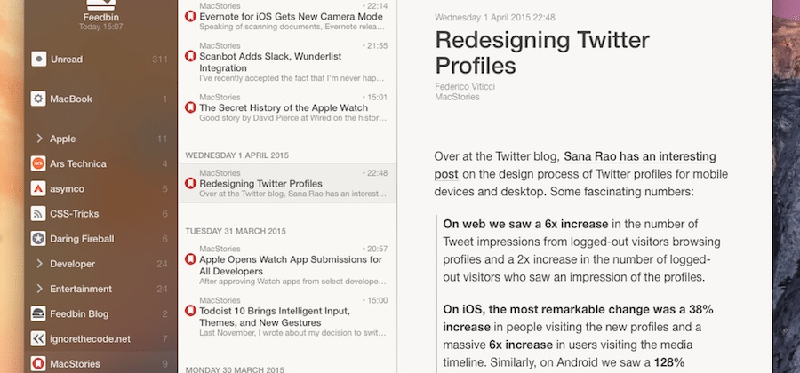 RSS app Reeder 3 for Mac update teased