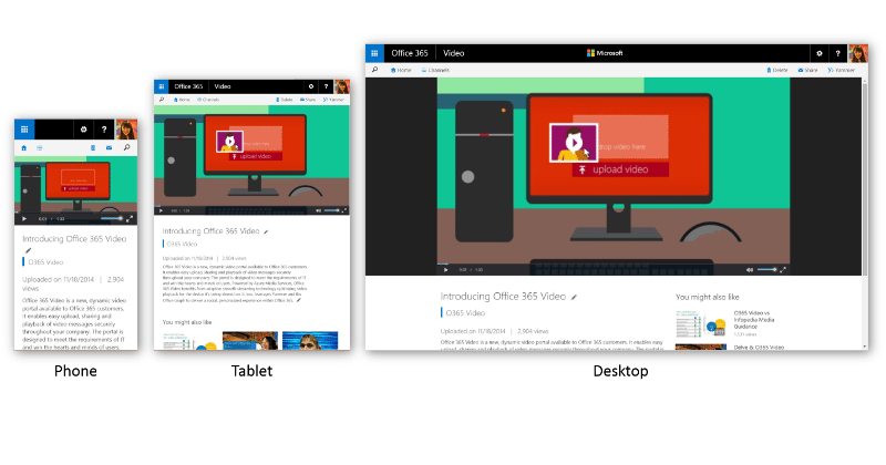 Office 365 Video launches, like YouTube for serious business