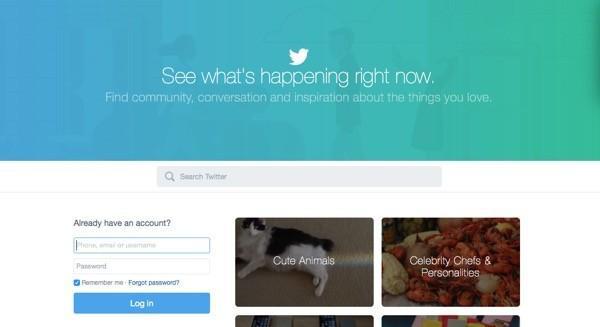 Twitter's new homepage tries to reel newbies in