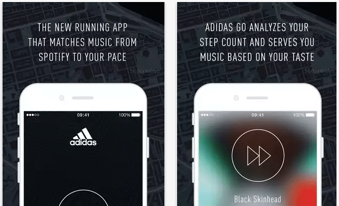 Adidas Go for iOS pairs Spotify music with workout's pace