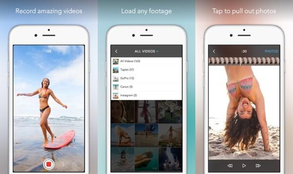 Taplet for iOS pulls still images from new or existing videos