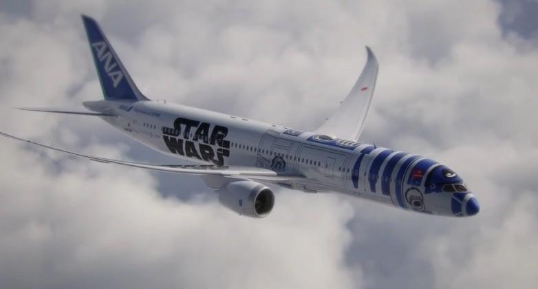 Star Wars' R2-D2 themed jet plane takes to the skies