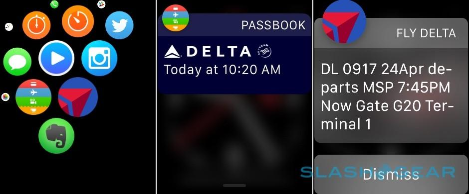 Apple Watch Delta app