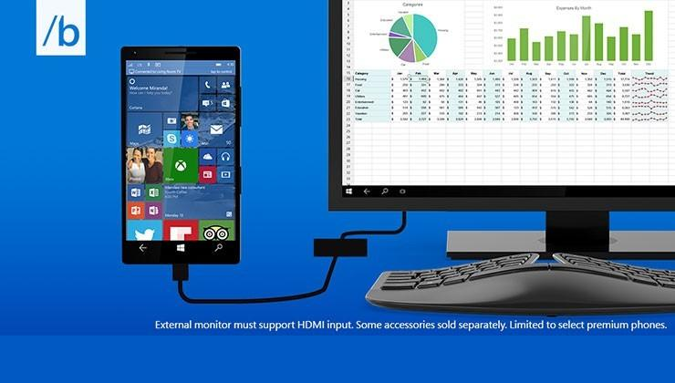 Windows 10 Continuum turns your phone into a PC
