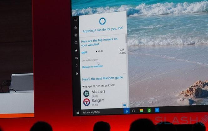 Cortana's new Windows 10 features at BUILD 2015