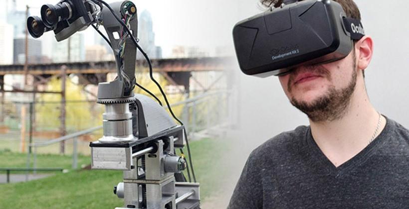 DORA telepresence robot works with Oculus Rift