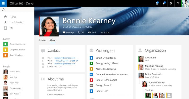 MS Office Delve puts the focus on People, Blogs, and Mobile